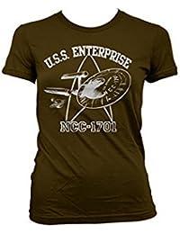 Officially Licensed Merchandise Star Trek - U.S.S. Enterprise Girly T-Shirt