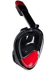 KUOKEL D2 - Tauchmaske Vollgesicht Schnorchel Maske (mit 180 Grad Panorama, Anti-Fog Anti-Leck, mit Gopro Kamera Halterung, Taucherbrille für Erwachsene und Kinder)