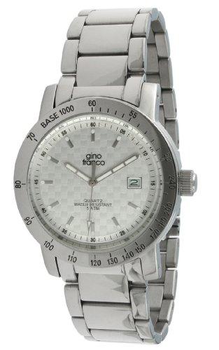 gino franco Men's 987SL Round Stainless Steel Bracelet Watch