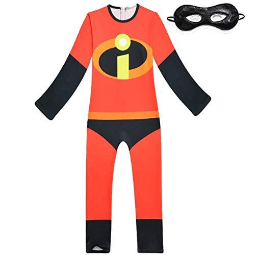 Piccoli monelli costume incredibili bambino 4-5 anni vestito incredibili super eroi di carnevale altezza bimbo 100-110 cm