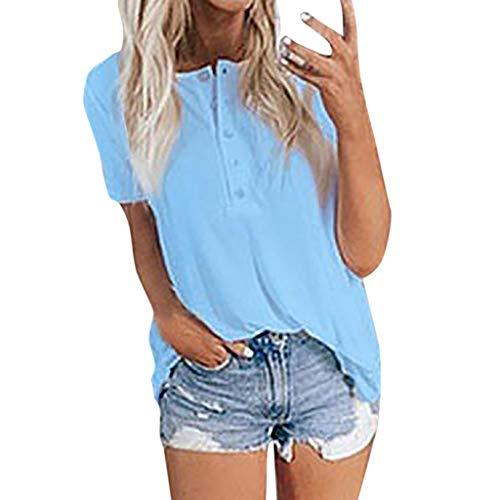 Zebra Skort (Pullover Sweatshirt für Damen,Kobay 2019 Halloween Heiligabend Weihnachten Frauen Sommer Kurzarm Einfache Solid Color Button Shirt Blusen T Shirt Tops Sweater)