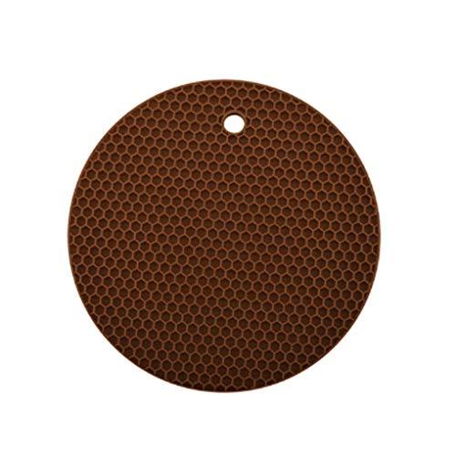 Kongnijiwa Silikon Honeycomb Platzdeckchen Tischhitzebeständige Matte Cup Anti-Rutsch-Coaster Kissen runde Auflage -