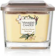 YANKEE CANDLE Elevation Coll. W/Plt Lid - medium square candle with 3 wicks Sweet Nectar Blossom 1591093E
