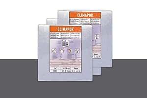 Climapor Panneau isolant polystyrène contrecollé alu sous papier peint, 0,5 x 0,5 m x 4 mm - PRIX SPECIAL LOT DE 2 SACHETS (= 4 m2)