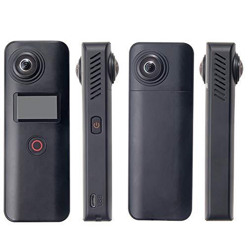 Action-Kamera, VR-Panoramakamera, Wireless Security Camera, Dual Screen,360 Grad Winkel, für Camping, Wandern, Abenteuer, Radfahren