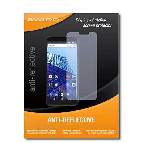 SWIDO Bildschirmschutzfolie für Archos Access 57 [3 Stück] Anti-Reflex MATT Entspiegelnd, Extrem Kratzfest, Schutz vor Kratzer/Bildschirmschutz, Schutzfolie, Panzerfolie