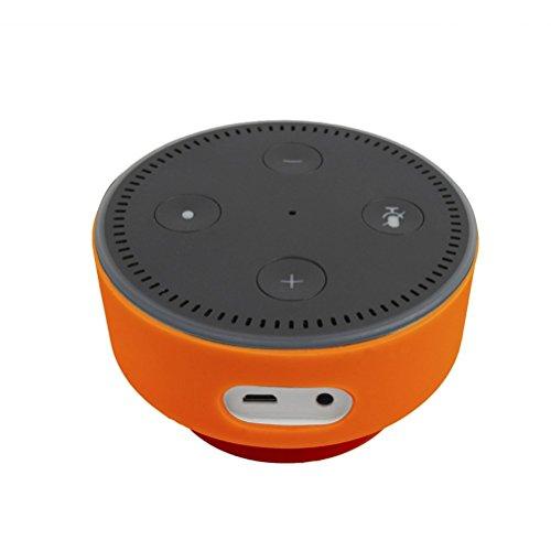 Silikon-Schutzhülle mit Saugnapf für Echo Dot, Williamcr Silikon Soft Case für Amazon Echo Dot 2. Generation