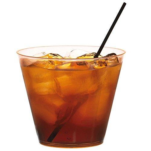 Fineline - Plastique rigide Old Fashioned Style gobelets Tasses - Orange Fluo - 255,1 gram (255ml) - Lot de 2 (40 pcs)