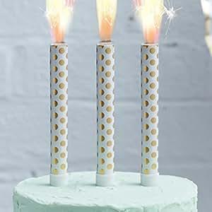 Ginger Ray Gold Foiled Polka Dot Birthday Ice Cake Fountain