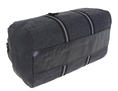 SPEAR Canvas Reisetasche DUFFLE BAG 60 cm Sporttasche Canvastasche (Marine Blue 12243) Full Black 12318