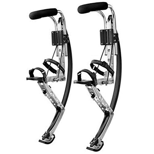 Jumping Spring Fitness Exercise Shoes Bounce Fun Running Stilts Bouncing Shoe,Silver,50~70kg
