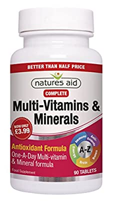 Natures Aid Complete Multi Vitamins and Minerals Tablets - Pack of 90 Tablets