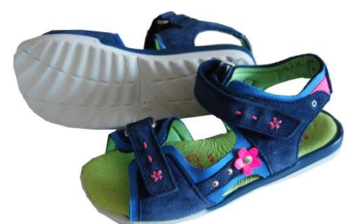 Helgas Modewelt , Sandales pour fille Bleu - blau (Turino jeans)