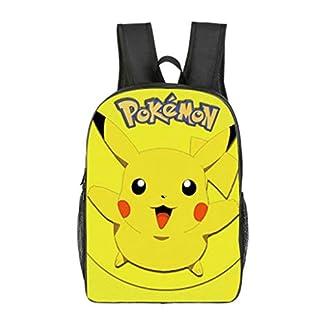 41MTA7cNy%2BL. SS324  - Mochila Pokemon Escolar, Mochila Pokemon Go Pikachu Eevee Amarillo para Infantil Niños y Niñas Unisex Bolsa Portátil para Mujeres Hombre Viaje Backpack para Estudiantes Adolescentes