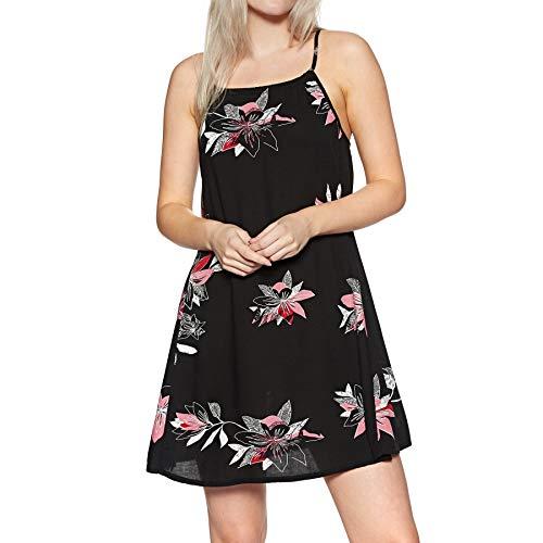 Roxy Damen All About Shadow Woven Dress Anthracite flowee L Preisvergleich