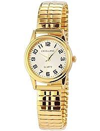 Excellanc 170004000017 - Reloj de pulsera mujer, varios materiales, color dorado
