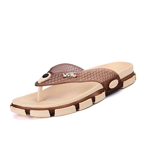 Men's Chinelo Masculino Beach Flip Flops Slippers brown