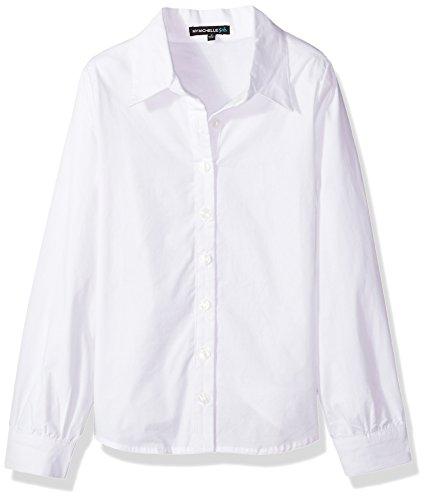 My Michelle Mädchen Button Up Shirt  Bluse  -  weiß -  (Bluse Button-up Baumwolle)