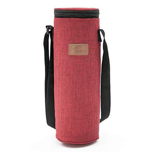 NB.: la capacidad interior de la bolsa es de 2 litros, pero sus medidas son: 10x10x32 cm. Esto significa que en su interior caben solamente recipientes que tengan esta dimensión. Si la botella tiene más de 10 cm de ancho no entrará en la bolsa térmic...