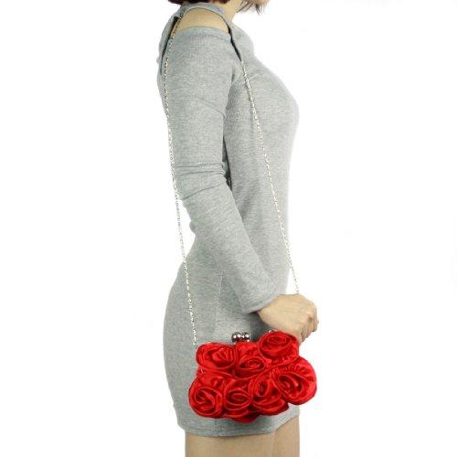 kilofly - Borsetta senza manici donna red