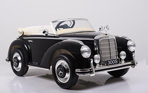 RC Kinderauto kaufen Kinderauto Bild 1: Mercedes Benz 300s Oldtimer Lizenz Kinderfahrzeug mit 2x 35W Motor Kinderauto Elektroauto Fernbedienung MP3 Anschluss in Schwarz*
