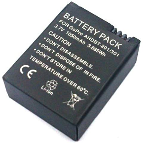 OEM Batería AHDBT-201 301 para Gopro hero 3