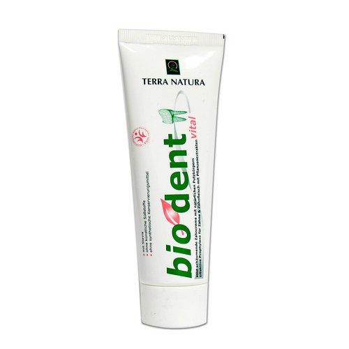 3er Pack Stevia Bio Dent Vital 75ml Zahncreme Zahnpasta -