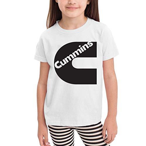 Solid-footed Sleeper Pajamas (Kinder Jungen Mädchen Shirts Cummins T Shirt Kurzarm T-Shirt Für Tollder Jungen Mädchen Baumwolle Sommer Kleidung Weiß 5/6 T)
