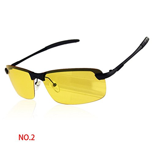 Provide The Best Anti-Glare-Noctilucent polarisierte Sonnenbrille Reiten Driving Brille Brille schwarz Rahmen gelb Objektiv