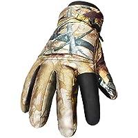 GUGEI Guantes de Caza Guantes de esquí de Invierno Grosor de Terciopelo Impermeable y a Prueba de Viento más Guantes de Terciopelo Combate de fanático del ejército (Color : Bionic Camouflage)