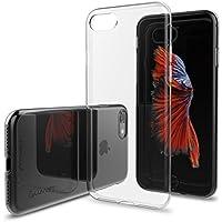 LUVVITT - Custodia ultra sottile, cover posteriore morbida, flessibile, in gomma TPU trasparente, per Apple Iphone 7, colore: trasparente