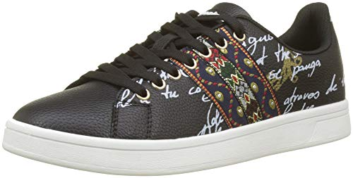 Desigual Shoes_Cosmic Exotic, Scarpe da Ginnastica Basse Donna, Nero (Negro 2000), 38 EU