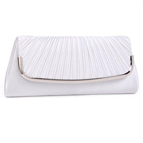 Damara Große Faltenwurf Damen Handtaschen,Grau Weiß