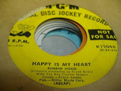 Preisvergleich Produktbild ROBBIN HOOD 45 RPM Happy is My Heart / Dancin' in My Socks