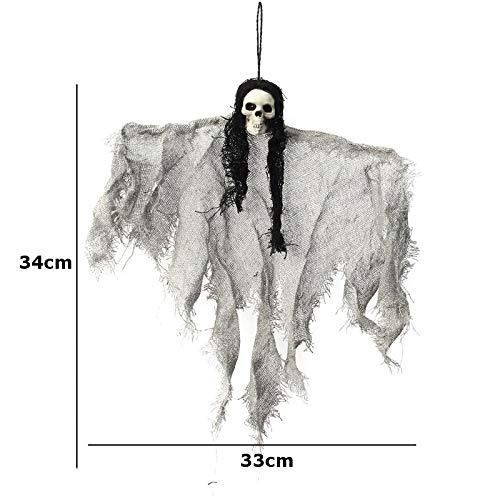 ERQINGZS Halloween-Dekoration Halloween Gruselige Hängende Geist Requisiten Horror Schädel Skelett Hanging Ghost Bar Club Dekoration Halloween Party Veranstaltungen Liefert