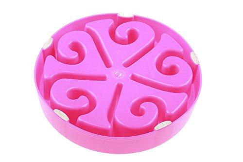 TopEUR-Pet-Fun-Feeder-Dog-Bowl-Slow-Feeder-Bloat-Stop-Dog-Food-Bowl-Maze-Interactive-Puzzle-Cat-Bowl-Non-Skid-Pink