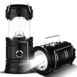LDG WARE Solar Emergency LED Rechargeable Light Lantern with USB Mobile Charging Torch