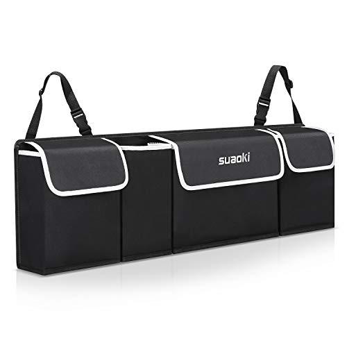 Organizer auto, suaoki organizer bagagliaio auto, multi-tasca borsa organizzatore auto rimovibile, con cinturino regolabile per universal auto, suv, compresse e accessori
