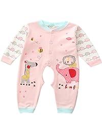 Highdas Mameluco Recién Nacidos Bebé Ropa para Bebés nacido Romper ropa muñeca Largos ropa de niño de la Manga Sleepsuit