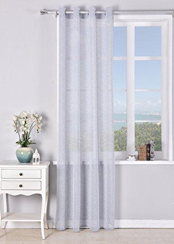 Pimpamtex tende traslucida con 8 occhielli di 140 x 260 per soggiorno, camera da letto e camera. modello matilda (indaco)