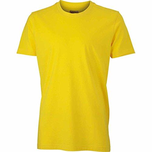 JAMES & NICHOLSON -  T-shirt - Basic - Maniche corte  - Uomo Giallo