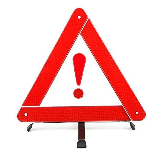 WLHQC Auto-Stativ-Auto-Dreieck-Warnzeichen-Parkplatz-Warnrahmen-Ausrufezeichen-vorübergehendes Notaus-Zeichen (Vertikale Zeichen Zu öffnen)