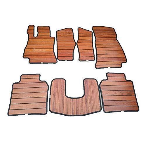 Preisvergleich Produktbild SJZC Auto-Matte Massivholz Fußauflage Teak Boden Änderung Geschäftsauto Holzboden Spezielles Auto Engagiert Aus Holz Auto Fußauflage