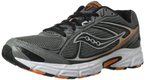Saucony Men's Cohesion 7 Running Shoe Grey / Black / Orange