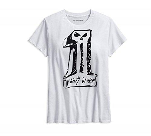 Skull Davidson T-shirt Harley (Harley-Davidson T-Shirt Sketchy Skull Größe M)