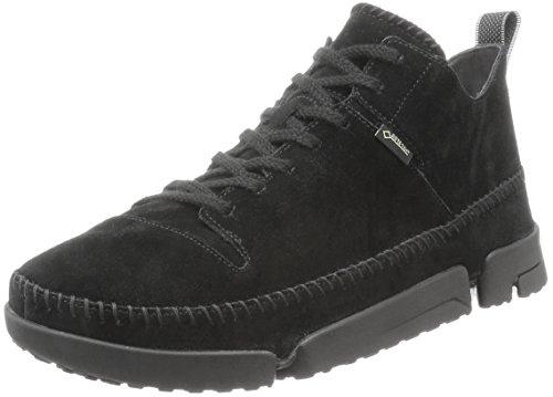 Clarks Originals Mens Trigenic Gore-Tex Black Leather Shoes 46 EU