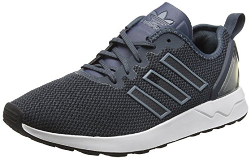 Adidas zx flux adv, espadrillas basse uomo, nero (bold onix/bold onix/core blackbold onix/bold onix/core black), 44 eu