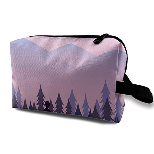 Cartoon Wanderers Using Horses in The Mountains Small Travel Toiletry Bag Super Light Toiletry Organizer for Overnight Trip Bag - Wanderer Cookies