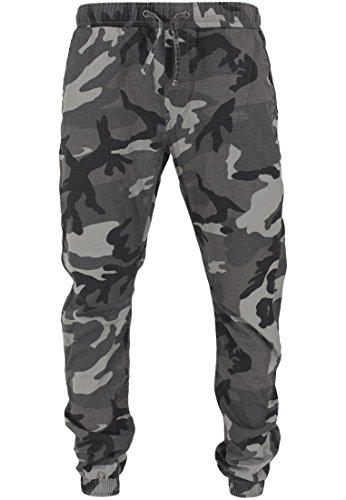 Urban Classics - Jogginghose Ripstop Jogging Pants, Pantaloni sportivi Uomo, Multicolore (Darkcamo), Large (Taglia Produttore: Large)