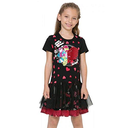 DESIGUAL - Vestito da bambina maniche corte rouge 11/12 nero